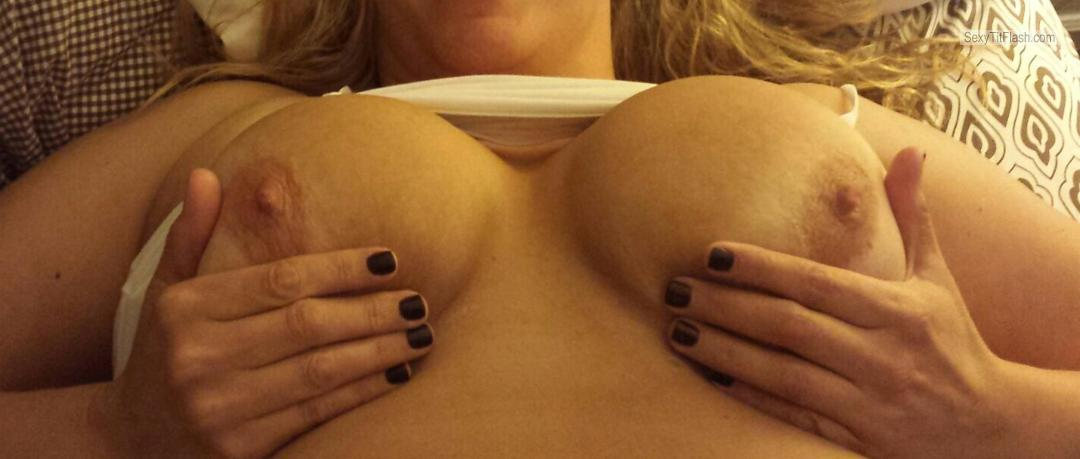 Tit Flash: My Friend's Tanlined Big Tits - Fun Milf from United States