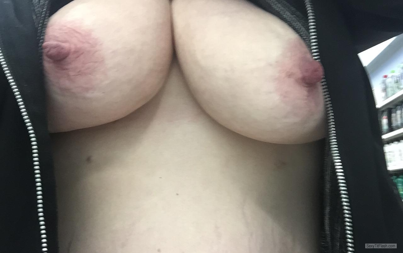 Tit Flash: My Big Tits (Selfie) - Wifes Juicy Tits from United States