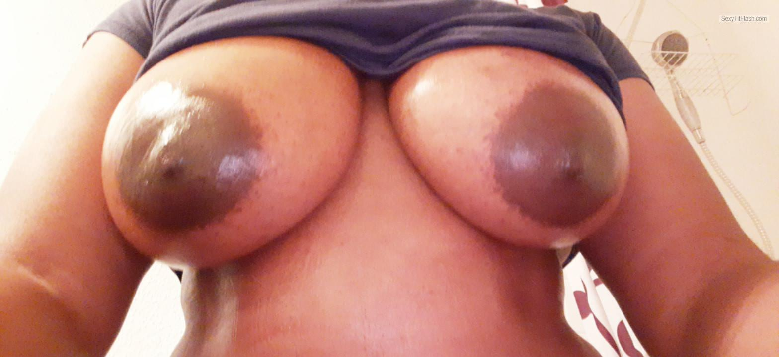 Tit Flash: My Big Tits - Chocolate Nipples from United States