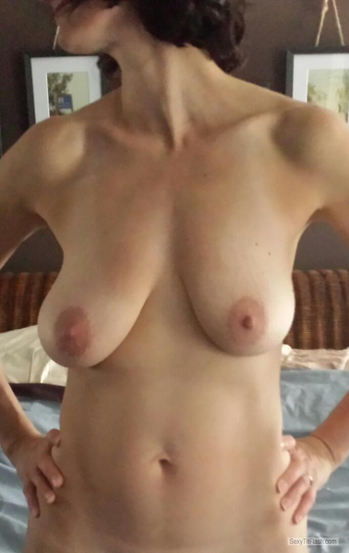 Tit Flash: My Big Tits - Maria from Canada
