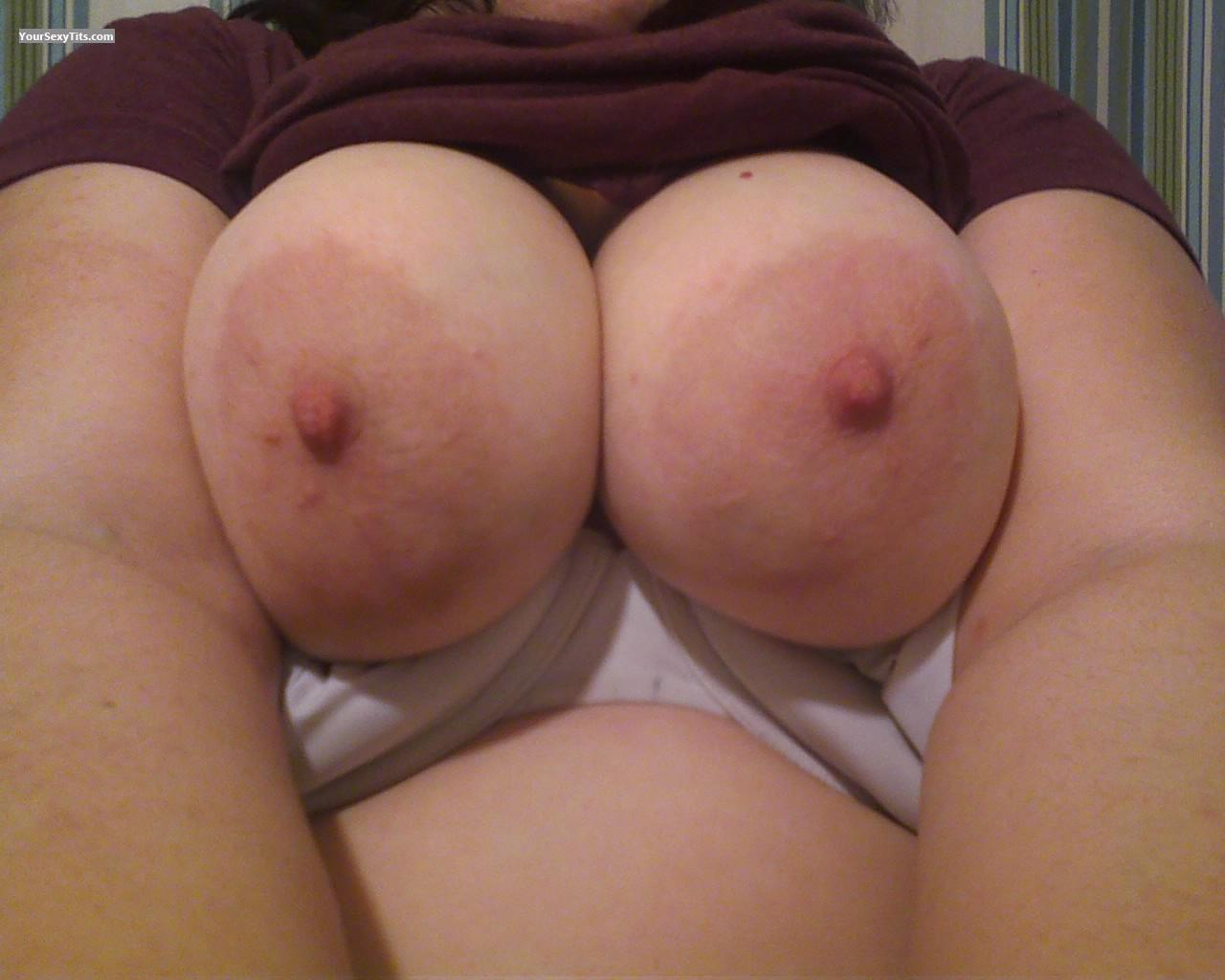 Tit Flash: Wife's Big Tits (Selfie) - Jaimee from United States