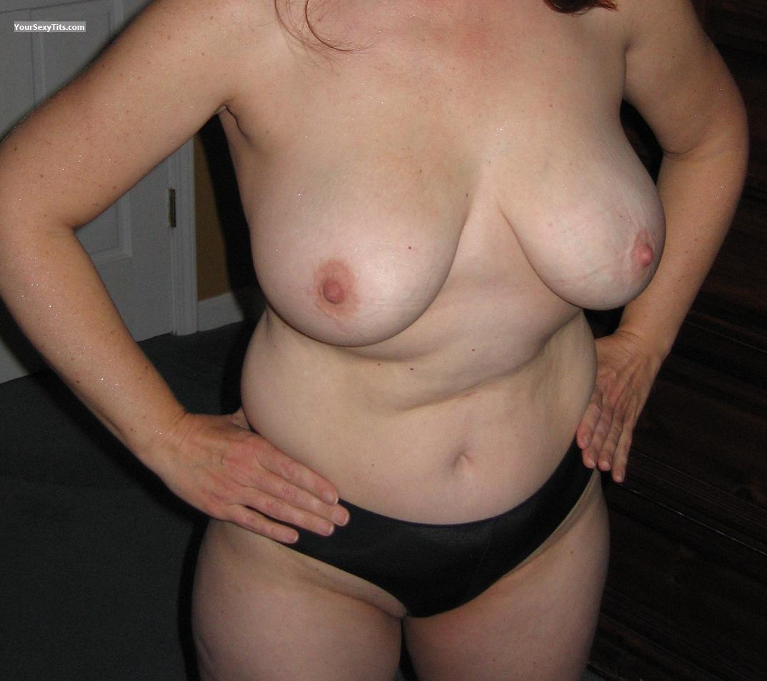 Tit Flash: Big Tits - Slightly Shy from United States