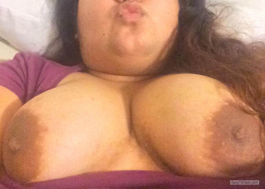 Tit Flash: My Big Tits (Selfie) - Moni from United States