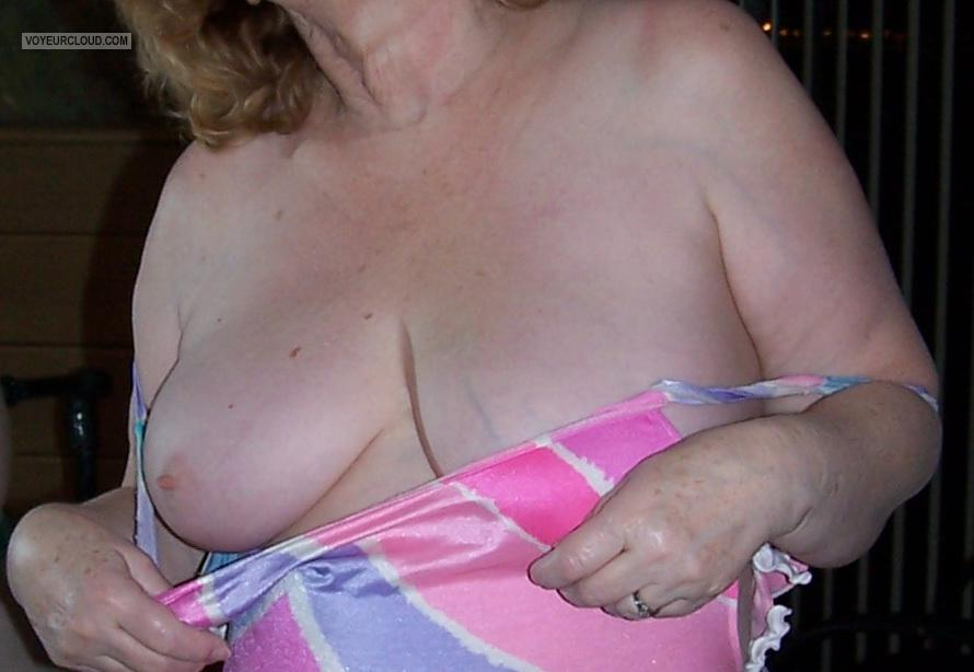 Tit Flash: Wife's Medium Tits - Ms B from United States