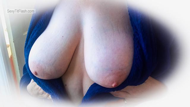 Tit Flash: Wife's Big Tits - Natural Galore from United States