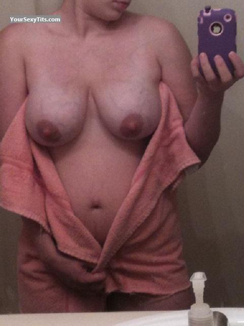 Tit Flash: My Big Tits (Selfie) - Janet from United States