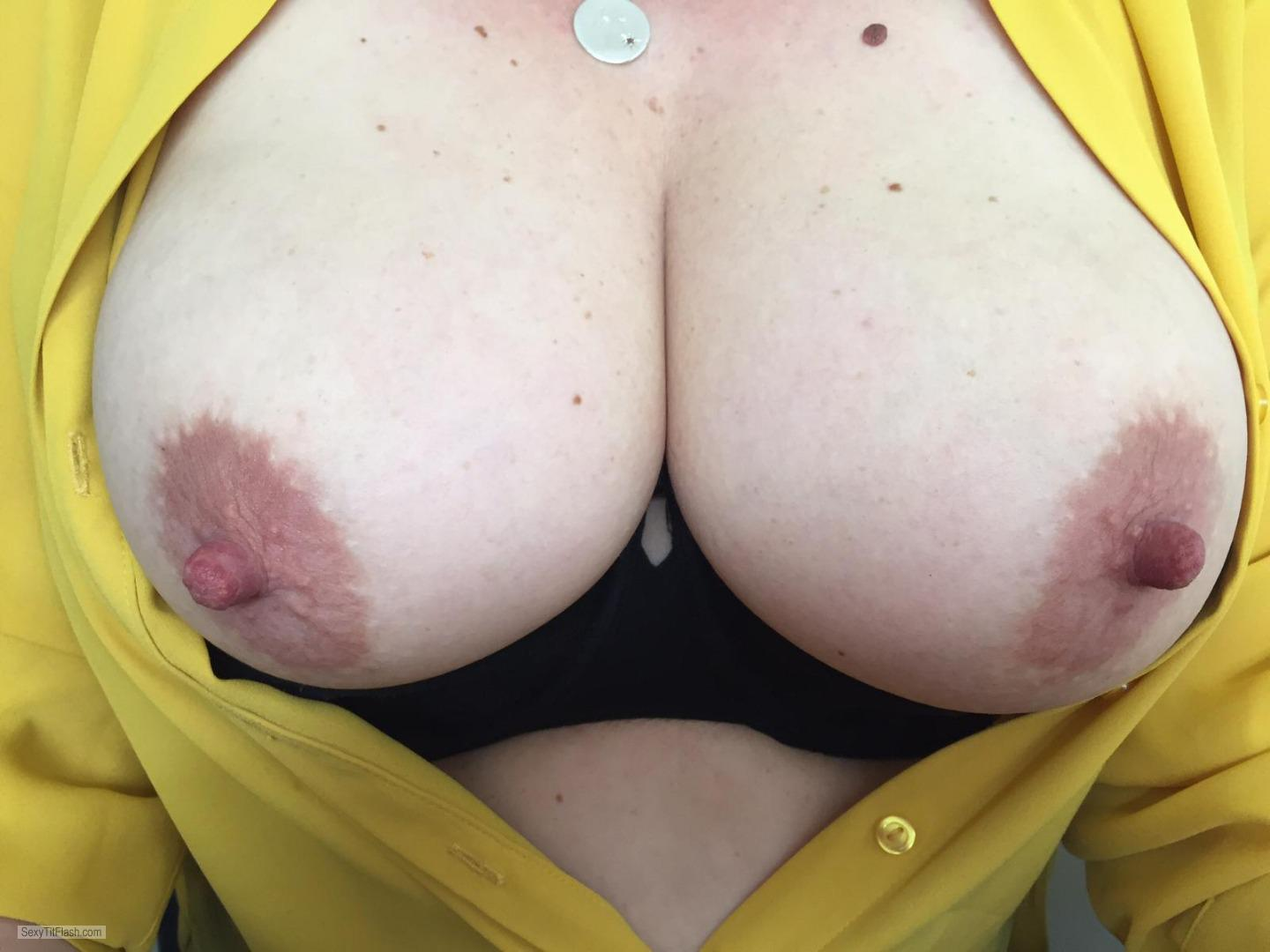 Tit Flash: Wife's Big Tits - Big N Bare from United Kingdom