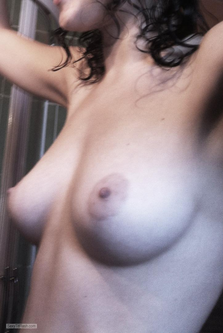 Tit Flash: My Small Tits (Selfie) - NuyNui from France