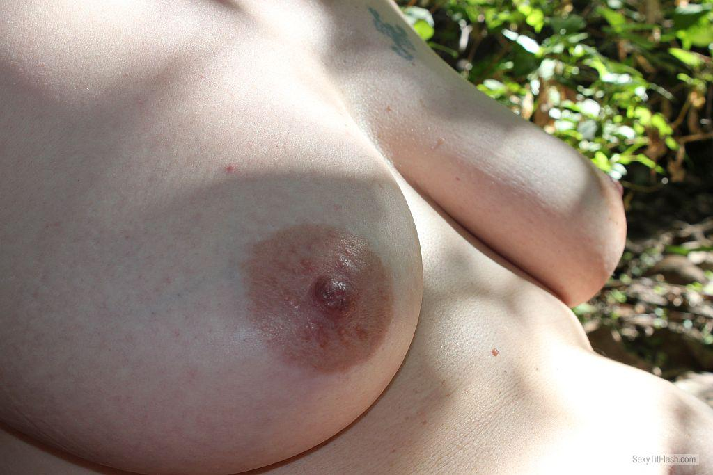 Tit Flash: Room Mate's Medium Tits - MILF from South Africa
