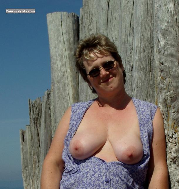 Tit Flash: Big Tits - Topless HG99 from Canada