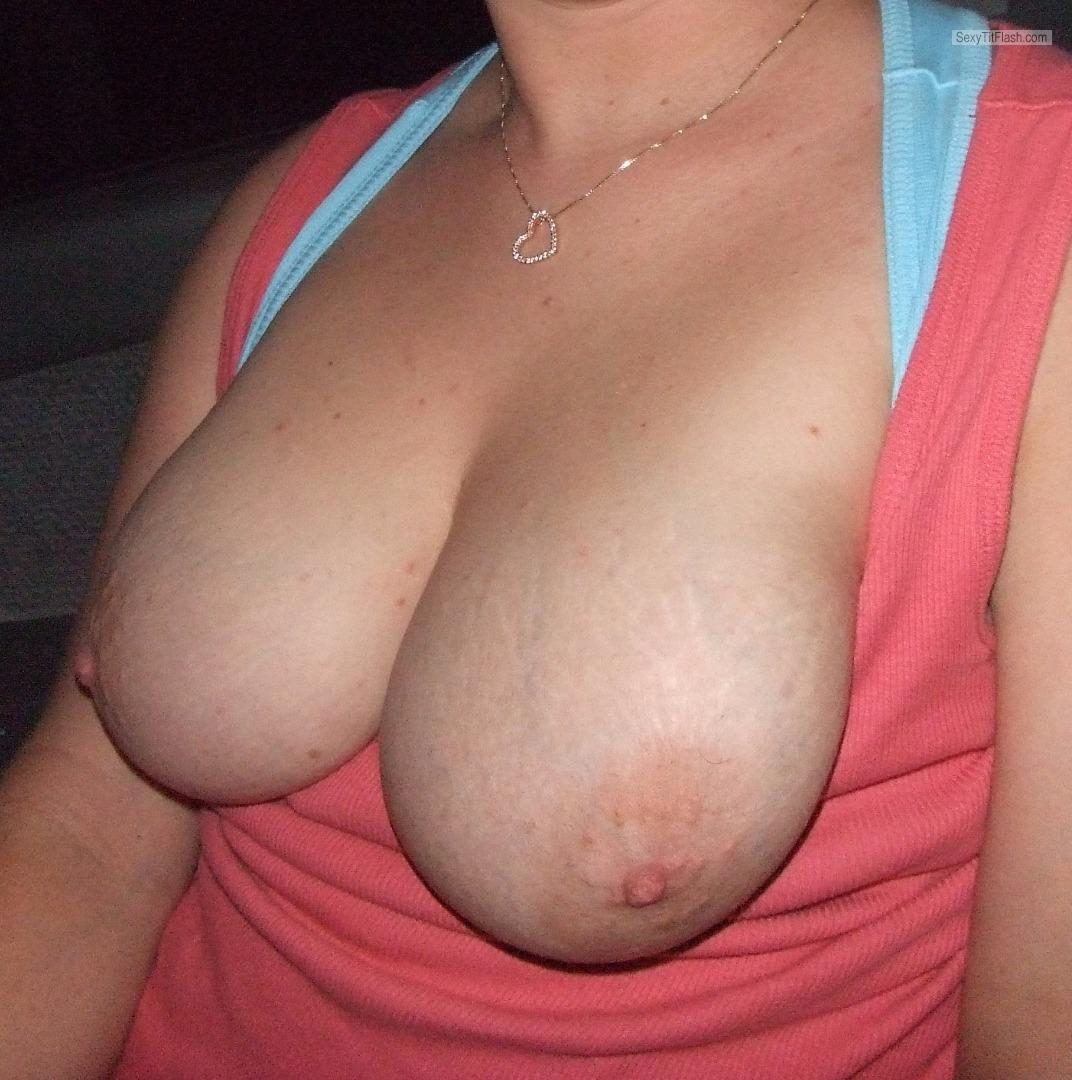 Tit Flash: My Big Tits (Selfie) - Milf Lisa from United States