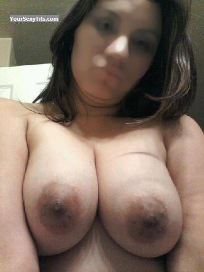 Tit Flash: Wife's Big Tits (Selfie) - Topless C from United States