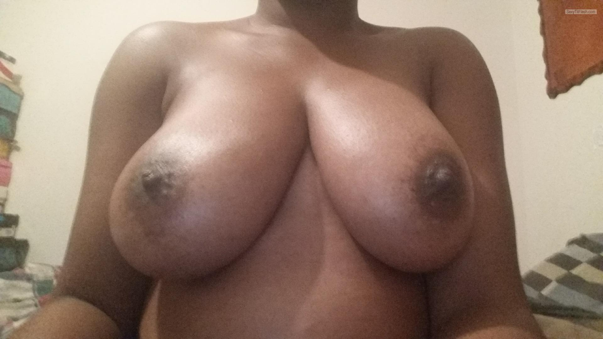 Tit Flash: My Big Tits (Selfie) - Jedora from United States