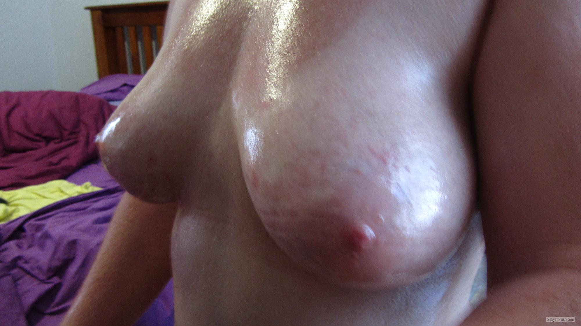 Tit Flash: My Medium Tits (Selfie) - Jen from South Africa