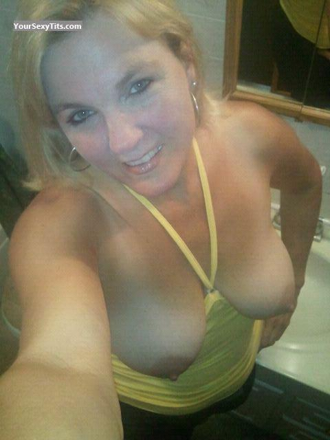Tit Flash: My Big Tits (Selfie) - Topless Summer Coming To An End... = from United States