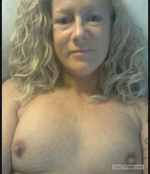 Small Tits Of My Wife Topless Selfie by Mell
