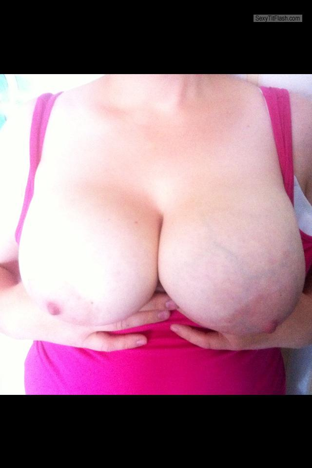 Tit Flash: My Big Tits (Selfie) - Bustytx from United Kingdom