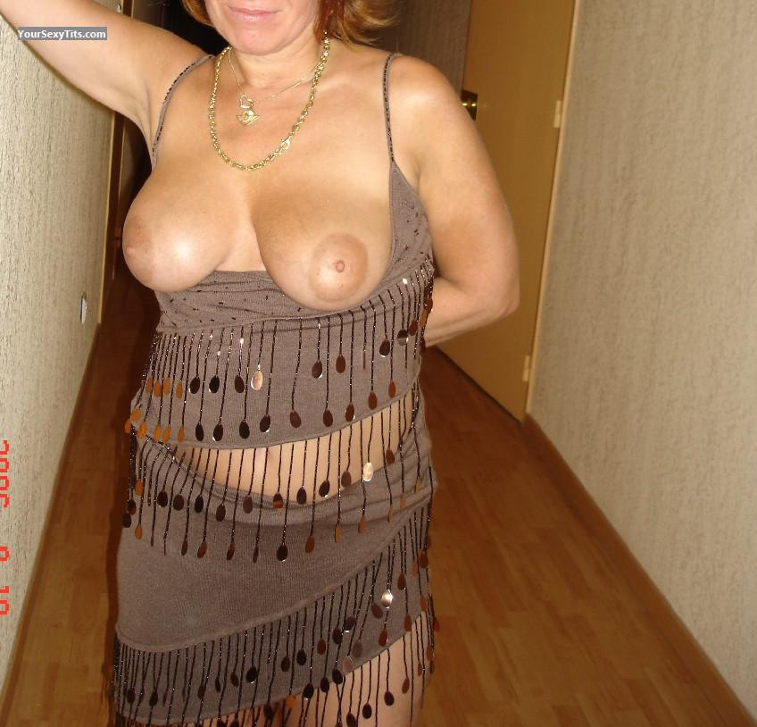 Tit Flash: Wife's Big Tits - Isanatu from France
