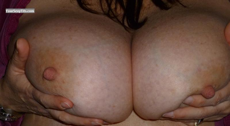 Tit Flash: Wife's Big Tits - BritsGal from United States