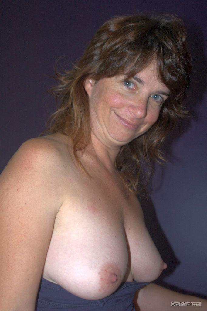 Tit Flash: Ex-Wife's Big Tits - Topless Jo from Australia