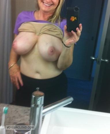 Big Tits Of My Wife Selfie by Randymann