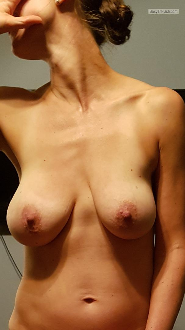 Tit Flash: Wife's Big Tits - Maria from Canada