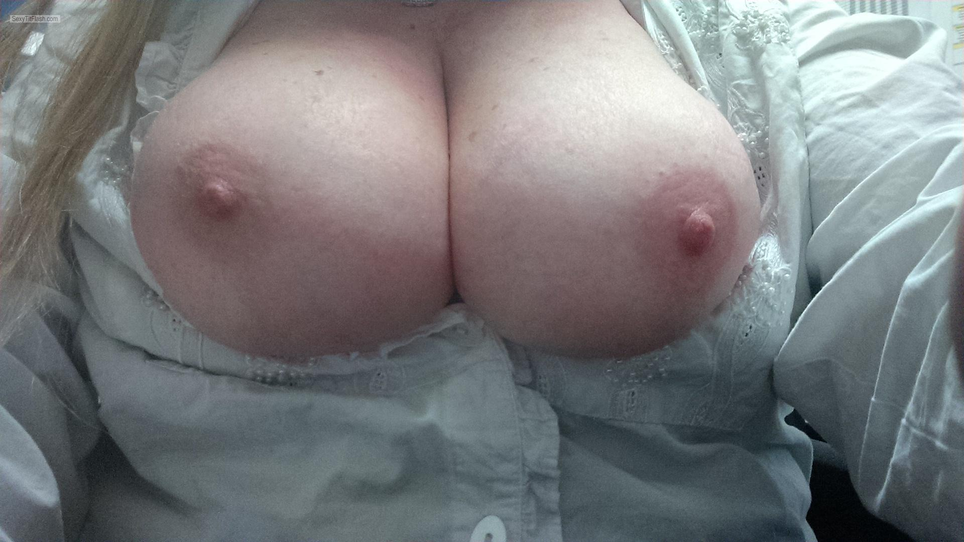 Big Tits Of My Girlfriend Selfie by Hot Sub ( Willow Girl)
