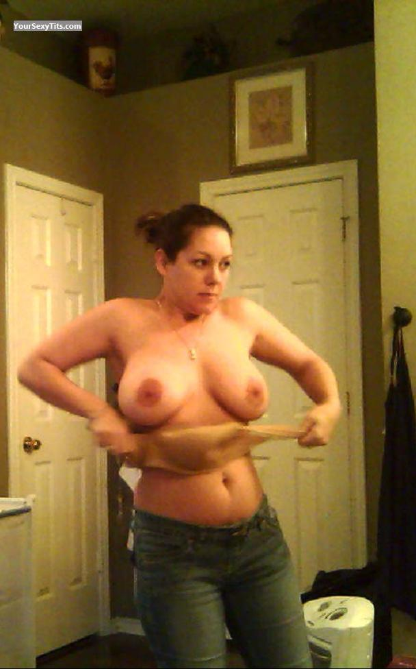 Tit Flash: Big Tits - Topless CatDawn from United States