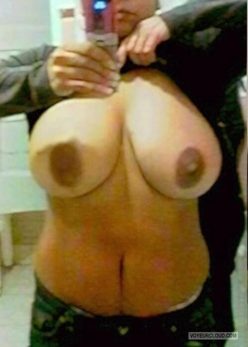 Tit Flash: Ex-Girlfriend's Big Tits (Selfie) - BEBA from United States