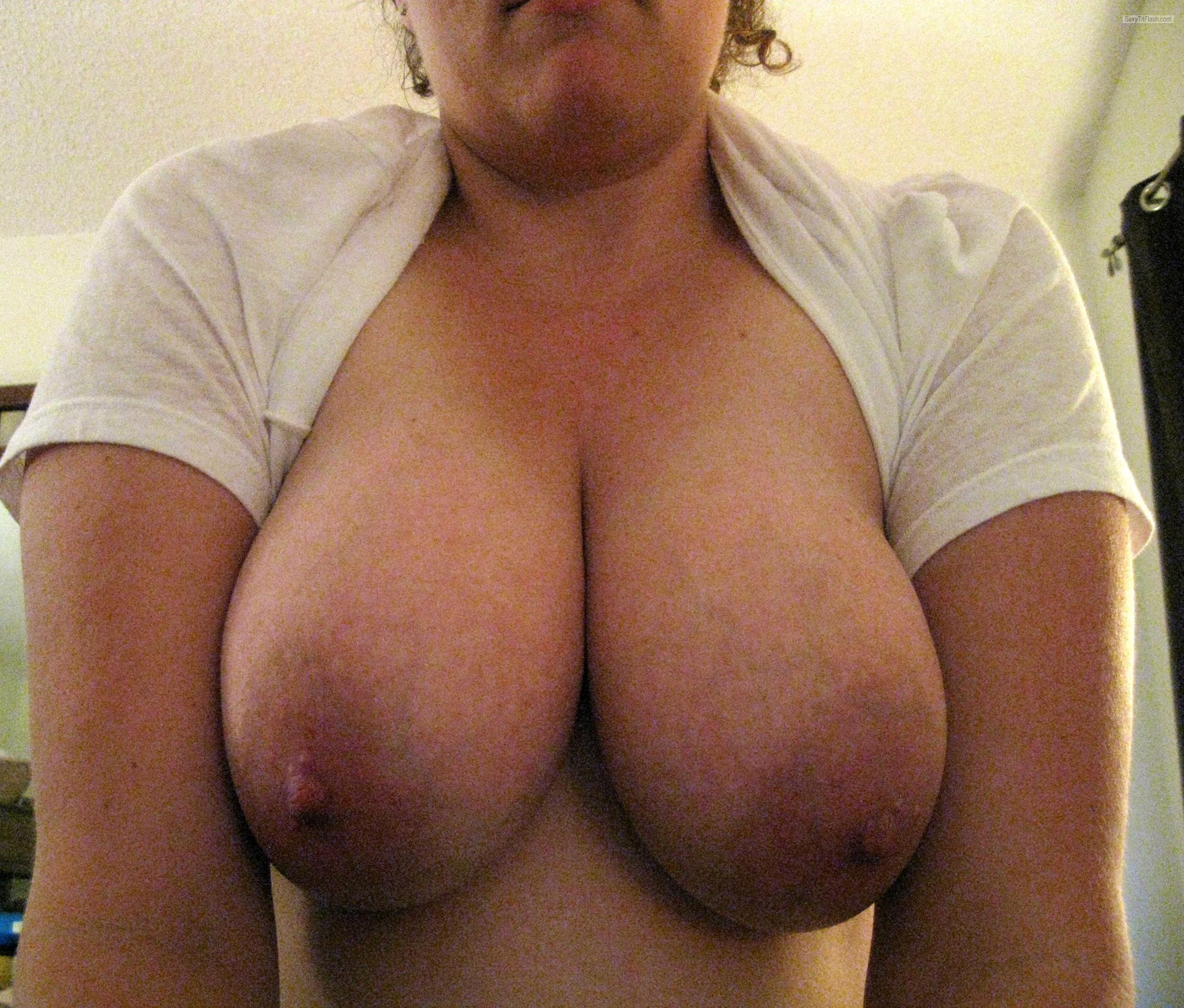 Tit Flash: Wife's Big Tits - MtnWife from United States