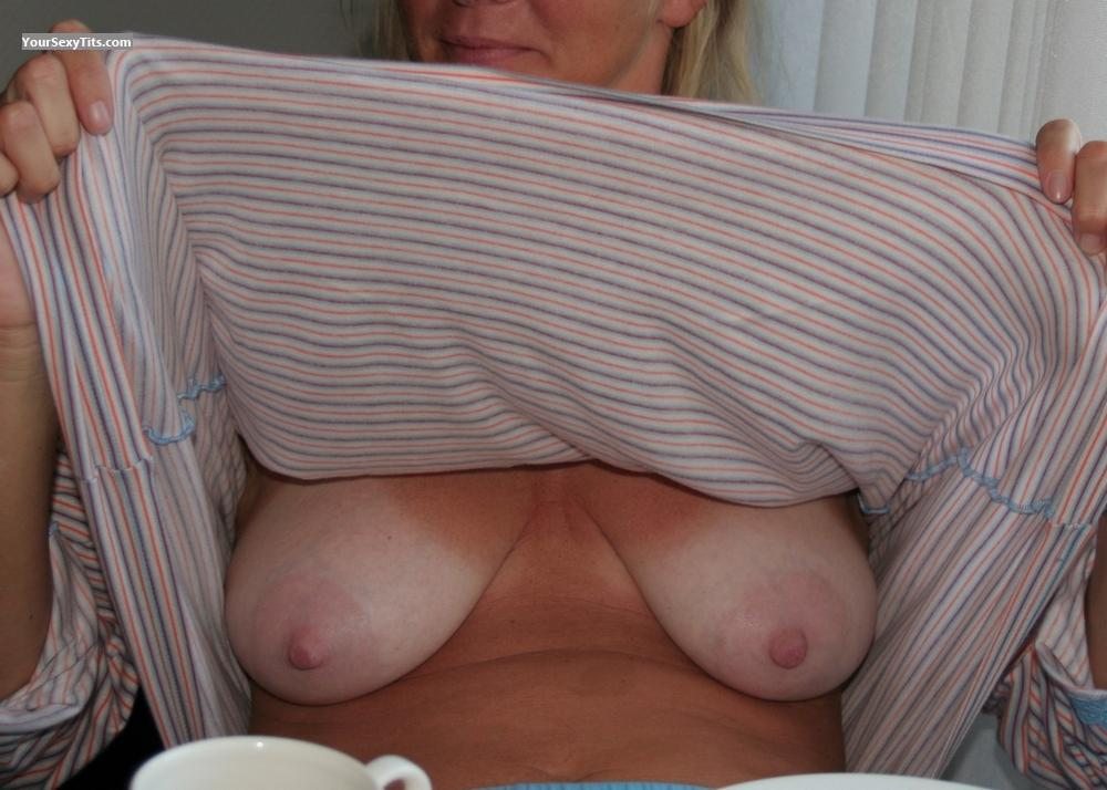 Tit Flash: Big Tits - Real Blondie from Germany