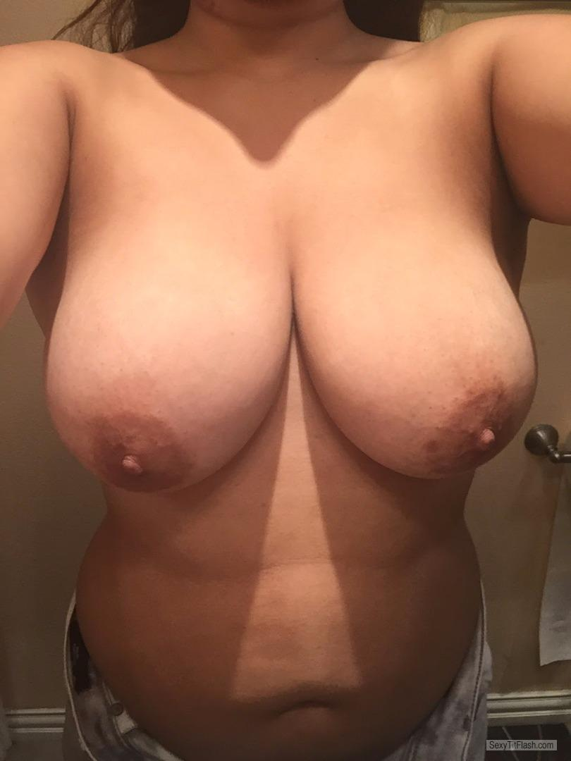 Big Tits Of My Wife Selfie by Wife' 36D's
