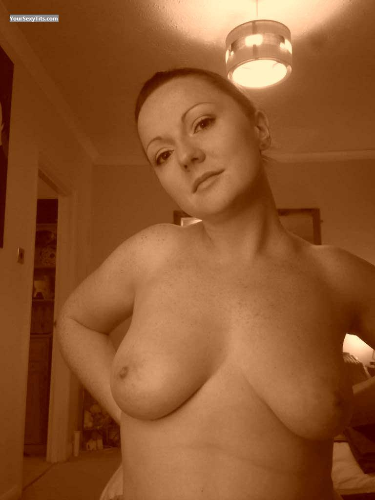 Tit Flash: My Big Tits (Selfie) - Topless Tease from United Kingdom