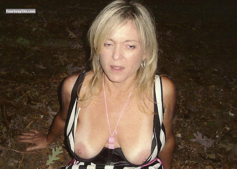 Tit Flash: Big Tits - Topless Deb from United States