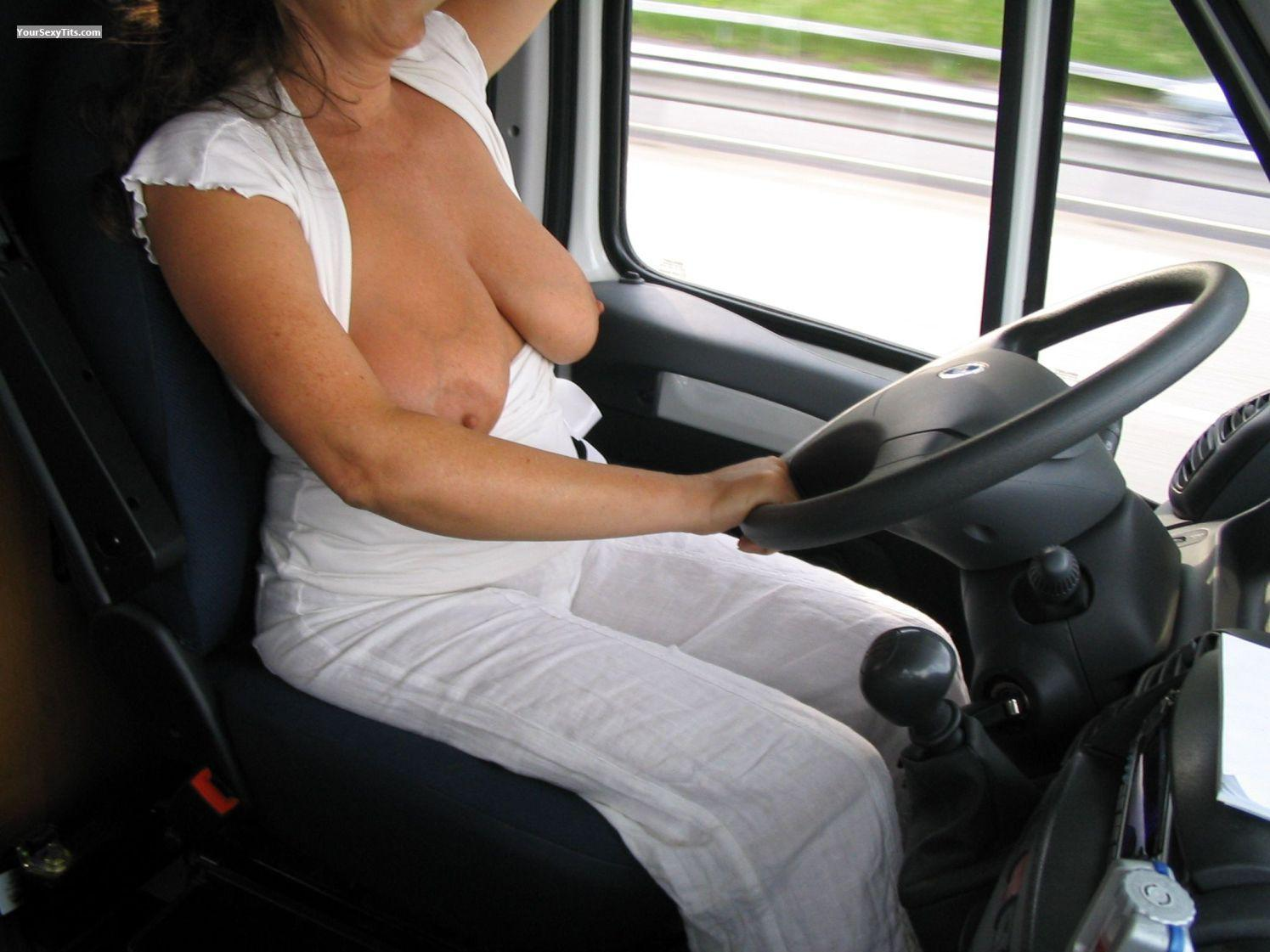 Big Tits On The Road 34