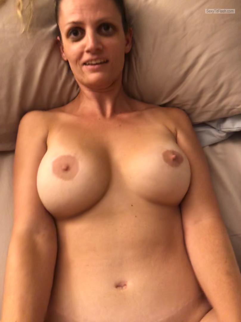 Tit Flash: My Big Tits - Topless Britt Bratt from United States