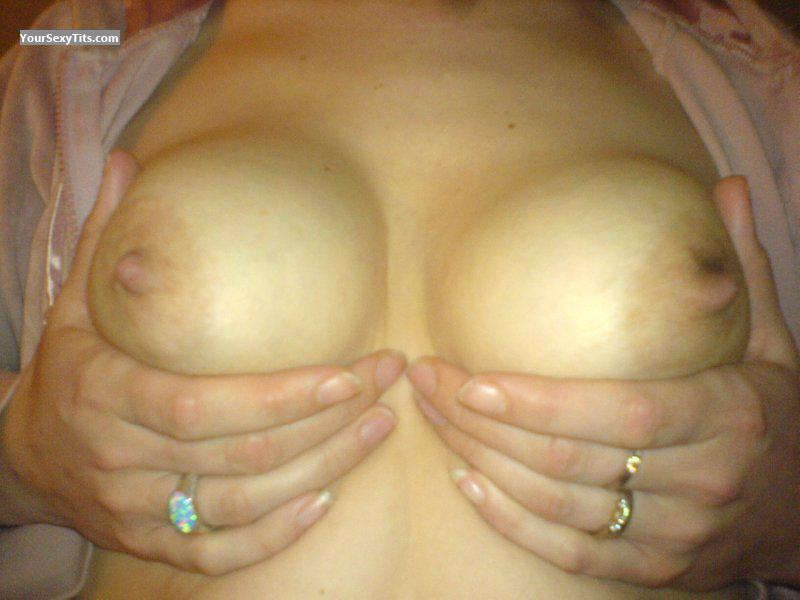 Tit Flash: Wife's Small Tits - Busty Wife from United States