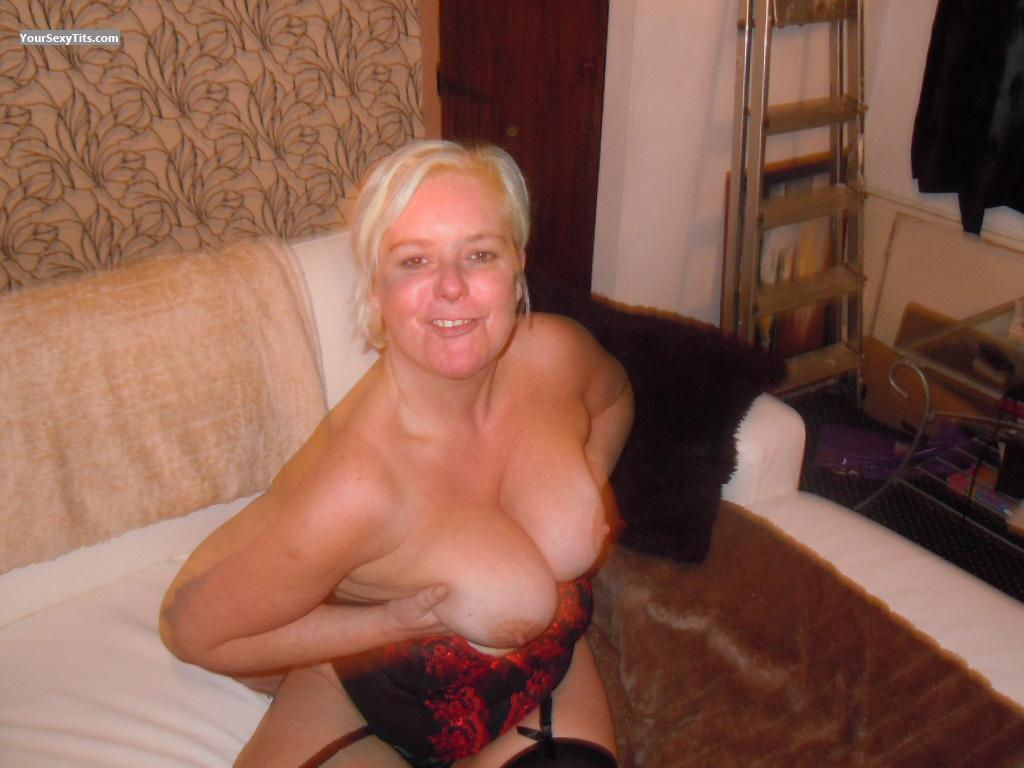 Tit Flash: Big Tits - Topless Mixxy from United Kingdom