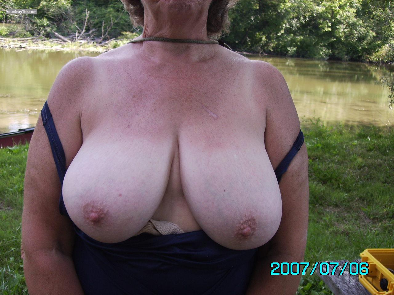 Topless beach huge big tits boobs