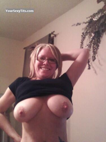 Tit Flash: Big Tits - Topless Debbie from United States
