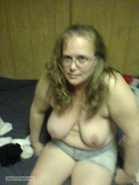 Tit Flash: My Big Tits (Selfie) - Topless Jen from United States