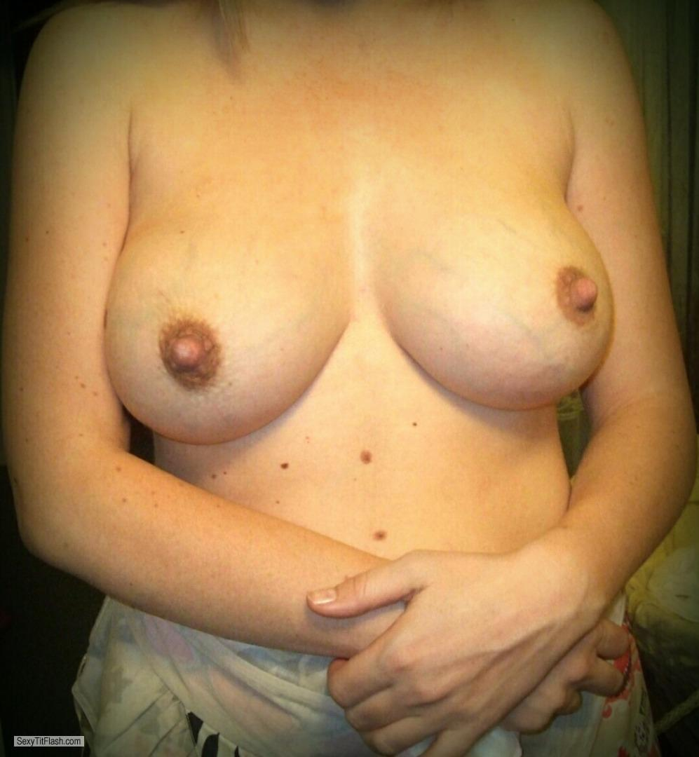Tit Flash: My Big Tits - Juicy Milky from United Kingdom