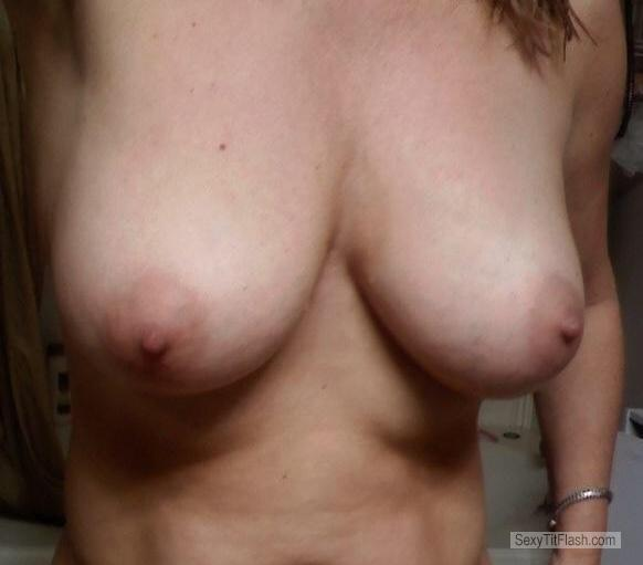 Tit Flash: Wife's Big Tits (Selfie) - 55 Year Old Wife from United States