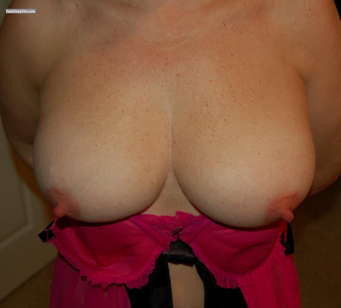 Tit Flash: Wife's Big Tits - Abbey from United States