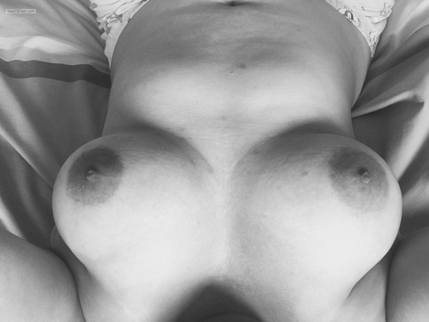 My Big Tits Topless Selfie by Yum