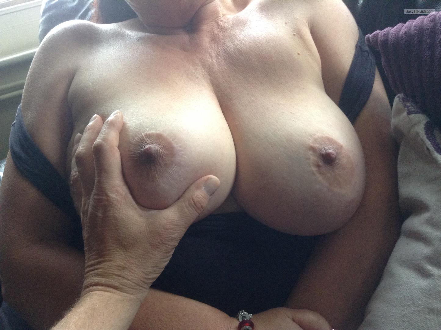 Tit Flash: Wife's Big Tits - Hot Hayley And Hubby from United Kingdom