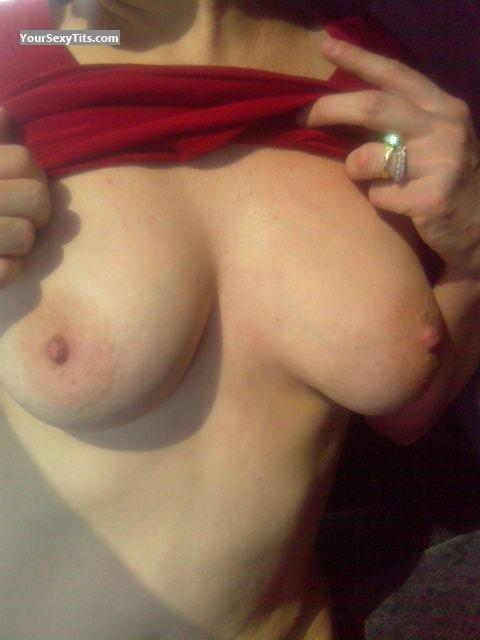Tit Flash: Big Tits - Lia from United States