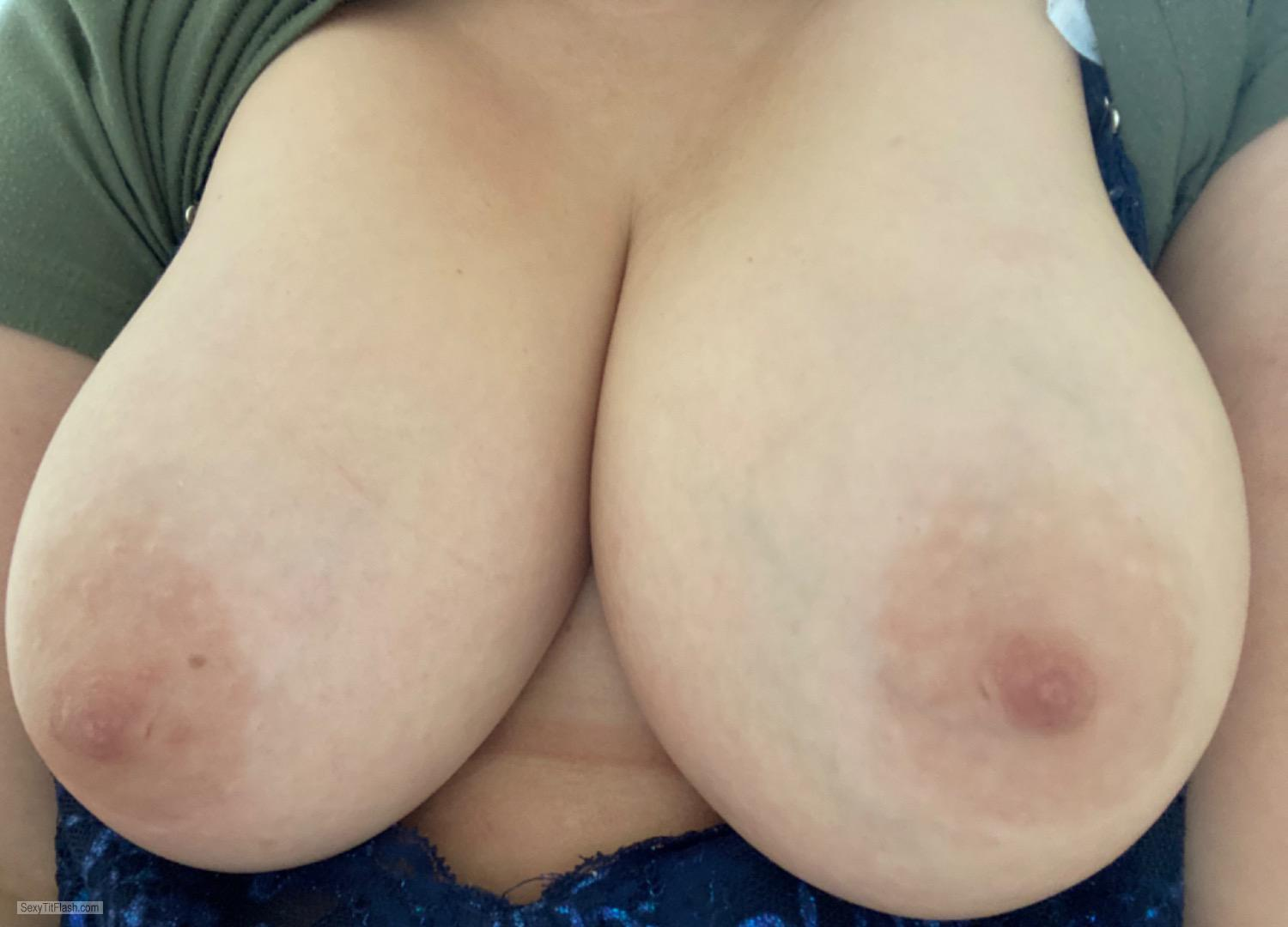 Tit Flash: Room Mate's Big Tits - Bethany from United States