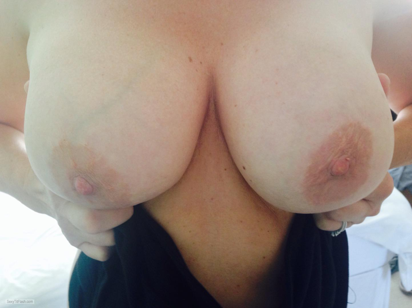 Tit Flash: My Big Tits - J from United Kingdom