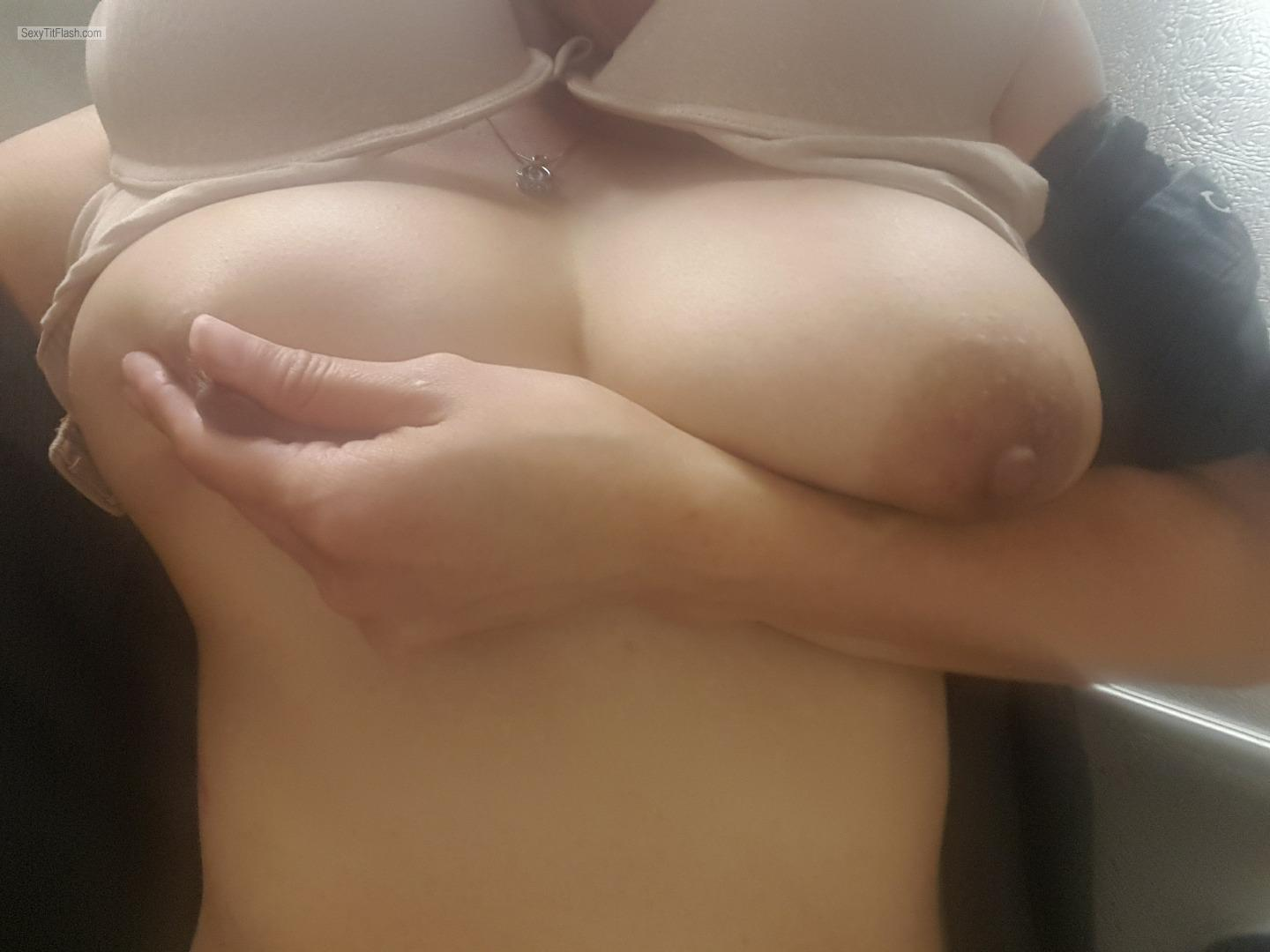 image Chocolate drop nipples big tittie wife getting the ld